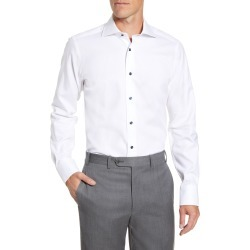 Men's David Donahue Trim Fit Diamond Weave Dress Shirt, Size 16 32/33 - White found on MODAPINS from Nordstrom for USD $74.00