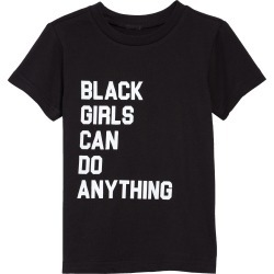 Toddler Girl's Typical Black Tees Black Girls Can Do Anything Graphic Tee, Size 3T - Black found on Bargain Bro Philippines from Nordstrom for $22.00