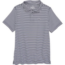 Toddler Boy's Vineyard Vines Feeder Stripe Performance Polo, Size 2T - Blue found on Bargain Bro India from LinkShare USA for $49.50