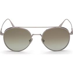 Men's Tom Ford Declan 54mm Round Sunglasses - Light Ruthenium/ Green Mirror found on Bargain Bro from Nordstrom for USD $334.40