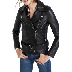 Women's Madewell Ultimate Leather Jacket, Size X-Small - Black found on Bargain Bro India from Nordstrom for $423.30
