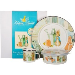 Toddler Golden Rabbit Peter Rabbit Watering Can Child's Dish Set, Size One Size - White found on Bargain Bro from Nordstrom for USD $39.90