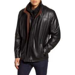 Men's Remy Leather Leather Jacket With Removable Inset Bib found on MODAPINS from Nordstrom for USD $1495.00