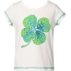 Toddler Girl's Truly Me Kids' Embellished Four Leaf Clover Graphic Tee, Size 2T - White found on Bargain Bro Philippines from Nordstrom for $17.50