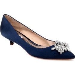 Women's Badgley Mischka Vail Embellished Kitten Heel Pump, Size 5.5 M - Blue found on MODAPINS from Nordstrom for USD $129.00