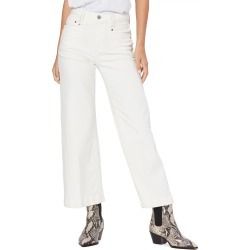 Petite Women's Paige Anessa High Waist Crop Wide Leg Jeans found on MODAPINS from Nordstrom for USD $131.40