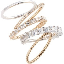 Women's Nadri Set Of 5 Stacking Rings