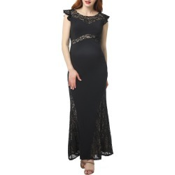Women's Kimi And Kai Audrey Lace Trim Maternity Gown found on Bargain Bro India from Nordstrom for $98.00