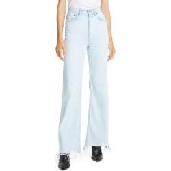 Women's Grlfrnd Carla High Waist Wide Leg Jeans, Size 26 - Blue found on Bargain Bro India from Nordstrom for $248.00