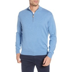 Men's Peter Millar Crown Quarter Zip Pullover Sweater, Size Small - Blue found on Bargain Bro Philippines from LinkShare USA for $52.88