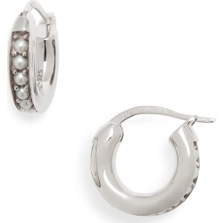 Women's Tom Wood Small Freshwater Pearl Hoop Earrings found on Bargain Bro Philippines from Nordstrom for $325.00