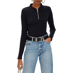 Women's Topshop Front Zip Polo Shirt found on MODAPINS from Nordstrom for USD $28.00