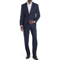 Ralph Lauren Blue Windowpane Two Button Notch Lapel Wool Suit at Nordstrom Rack found on Bargain Bro from Nordstrom Rack for USD $494.00