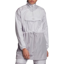 Women's Adidas Originals Long Sleeve Nylon Minidress, Size Small - Grey found on MODAPINS from Nordstrom for USD $75.00