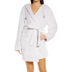 Women's Honeydew Intimates Winter Night Hooded Fleece Short Robe, Size X-Large/XX-Large - Purple found on MODAPINS from Nordstrom for USD $34.30