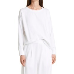 Women's Eileen Fisher Crewneck High-Low Sweatshirt, Size X-Large - White found on Bargain Bro from Nordstrom for USD $104.88