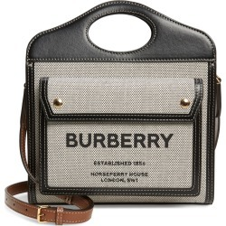 Burberry Mini Tri-Tone Canvas & Leather Pocket Bag - Black found on Bargain Bro Philippines from Nordstrom for $1350.00