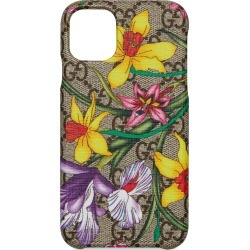 Gucci Ophidia Floral Gg Supreme Iphone 11 Case - Beige found on MODAPINS from Nordstrom for USD $330.00