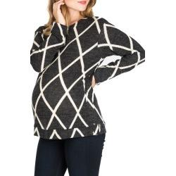 Women's Nom Maternity Olivia Snap Side Maternity Sweater