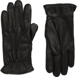 Men's UGG Three-Point Leather Tech Gloves, Size Medium - Black found on MODAPINS from Nordstrom for USD $95.00