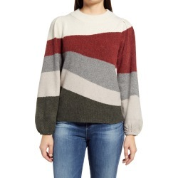 Women's Wit & Wisdom Blouson Sleeve Intarsia Sweater, Size Small - Red (Nordstrom Exclusive) found on Bargain Bro from Nordstrom for USD $35.57