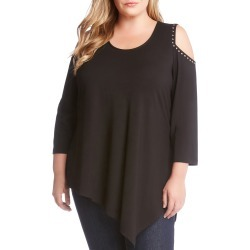 Plus Size Women's Karen Kane Stud Cold Shoulder Top found on MODAPINS from Nordstrom for USD $136.00