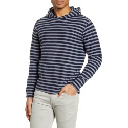 Men's Bonobos Guston Stripe Pullover Hoodie, Size Large - Blue