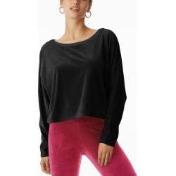 Women's Juicy Couture Stretch Velvet Dolman Sleeve Top, Size Small - Black found on MODAPINS from Nordstrom for USD $69.00
