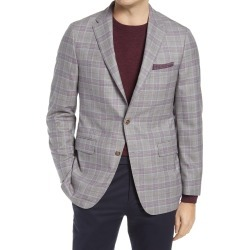 Men's Hickory Freeman Classic Fit Windowpane Wool Sport Coat, Size 40 Short - Grey found on MODAPINS from Nordstrom for USD $1195.00