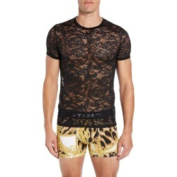 Men's Versace Intimo Uomo Lace T-Shirt, Size 5 - Black found on MODAPINS from Nordstrom for USD $275.00
