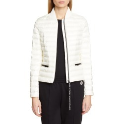 Women's Moncler Blenca Quilted Down Jacket, Size 0 - White found on Bargain Bro India from Nordstrom for $1125.00