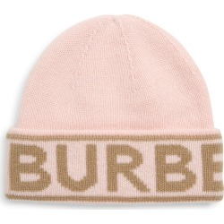 Women's Burberry Intarsia Logo Cashmere Beanie - Pink found on Bargain Bro Philippines from Nordstrom for $240.00