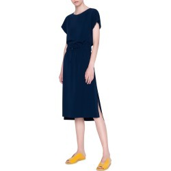 Women's Akris Punto Short Sleeve Blouson Dress, Size 2 - Blue found on MODAPINS from Nordstrom for USD $597.00