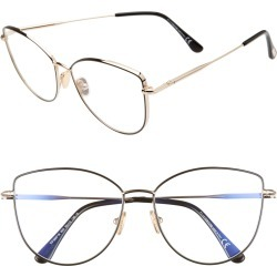 Women's Tom Ford 55mm Round Blue Light Blocking Optical Glasses - found on Bargain Bro Philippines from Nordstrom for $460.00