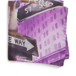 Men's Eton New York Store Silk Pocket Square, Size One Size - Purple found on Bargain Bro India from Nordstrom for $43.55