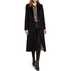 Women's Fleurette Notch Collar Wool Maxi Coat, Size 8 - Black (Nordstrom Exclusive)