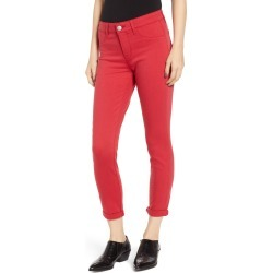 Women's Prosperity Denim Cuffed Skinny Jeans, Size 33 - Red found on Bargain Bro Philippines from LinkShare USA for $72.00