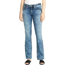 Women's Silver Jeans Co. Suki Distressed Slim Fit Bootcut Jeans, Size 27 x 33 - Blue found on MODAPINS from Nordstrom for USD $99.00