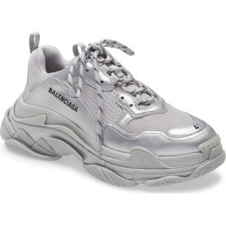 Men's Balenciaga Triple S Sneaker, Size 6US - Metallic found on MODAPINS from Nordstrom for USD $1150.00