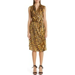 Women's Adam Lippes Jaguar Print Belted Dress, Size 8 - Brown found on MODAPINS from Nordstrom for USD $386.99