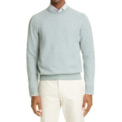 Men's Canali Men's Melange Crewneck Sweater, Size 42 US - Green found on Bargain Bro from Nordstrom for USD $300.20