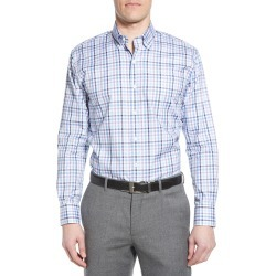 Men's Peter Millar Casey Regular Fit Multicheck Button-Down Shirt, Size Small - Blue found on Bargain Bro Philippines from LinkShare USA for $148.00