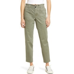 Women's 1822 Denim Paperbag Waist Twill Ankle Pants, Size 31 - Green found on MODAPINS from Nordstrom for USD $49.00