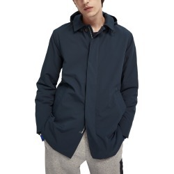 Men's Scotch & Soda Stretch Trench Coat, Size Medium - Blue found on MODAPINS from Nordstrom for USD $88.50