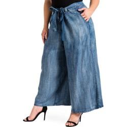 Plus Size Women's Standards & Practices Sophi Crop Wide Leg Pants, Size 18W - Blue