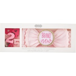 Mud Pie Milestone Pompom Headband Set, Size One Size - Pink found on Bargain Bro from Nordstrom for USD $12.92