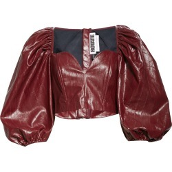 Women's Rotate Irina Faux Leather Crop Top, Size 8 US - Red found on Bargain Bro Philippines from Nordstrom for $270.00