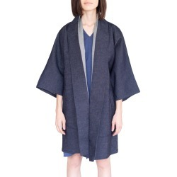 Women's Simple By Trista Oversized Denim Kimono Coat