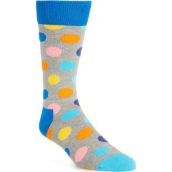 Men's Happy Socks Big Dot Socks, Size - (Nordstrom Exclusive) found on MODAPINS from Nordstrom for USD $8.40