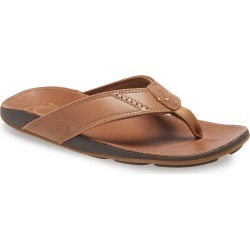 Men's Olukai 'Nui' Leather Flip Flop, Size 8 M - Beige found on Bargain Bro India from Nordstrom for $85.00